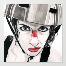 Battle Scarred Rollergirl Canvas Print