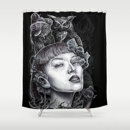 Owls & Fungal Decay Shower Curtain