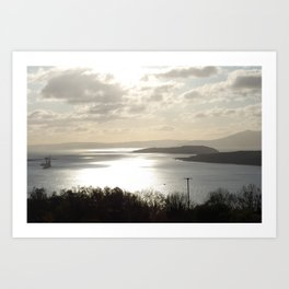 Looking to Millport and the wee Cumbrae Art Print