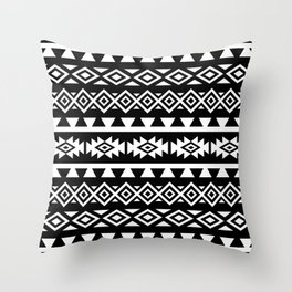 Aztec Stylized Shapes Pattern WB Throw Pillow