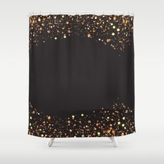 Black and gold #society6 Shower Curtain