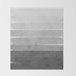 Brushstroke - Ombre Grey, Charcoal, minimal, Monochrome, black and white, trendy,  painterly art  Throw Blanket