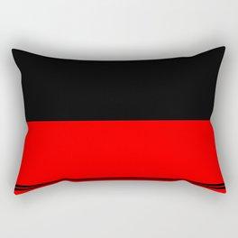 Black and red design Rectangular Pillow