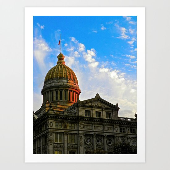 Sunset on the Courthouse Art Print