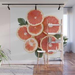 Grapefruit & Roses 01 Wall Mural