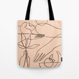 Summer lines X Tote Bag