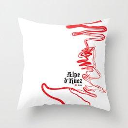 Famous Climbs: Alpe d'Huez 2, Old World Throw Pillow