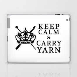 Keep Calm Carry Yarn Crafts Laptop & iPad Skin