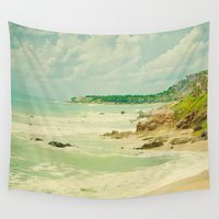 mexican Wall Tapestries featuring Mexican Beach by Susan's  Shop
