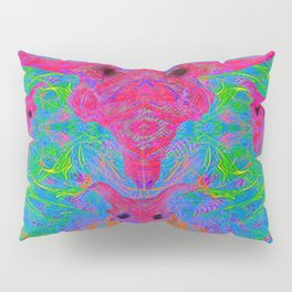 Foliage Predation (abstract, tribal, psychedelic) Pillow Sham