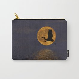 Heron & The Harvest Moon Carry-All Pouch