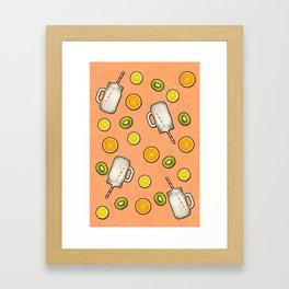 Summer fruit #society6 Framed Art Print