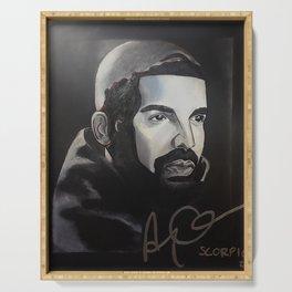 scorpion album,ovo,rapper,colourful,colorful,poster,wall art,fan art,music,hiphop,rap,rapper Serving Tray