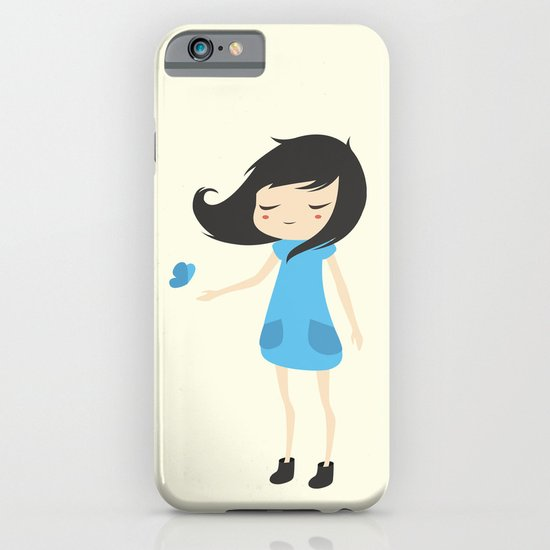 Girl and a Butterfly 2 iPhone & iPod Case
