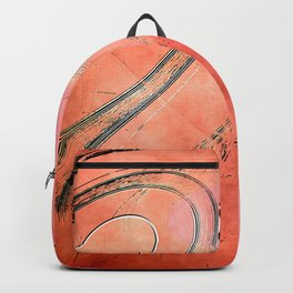 Space orange Backpack