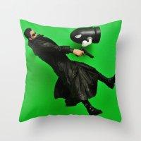 matrix Throw Pillows featuring Matrix by Beastie Toyz