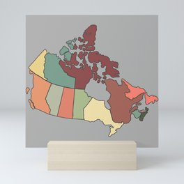 Map of Canada Mini Art Print