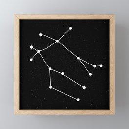 GEMINI (BLACK & WHITE) Framed Mini Art Print