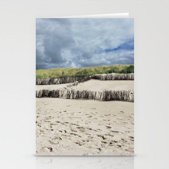 sandy beach square Stationery Cards
