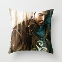 derek hale Throw Pillows featuring Derek Hale * Tyler Hoechlin  by AkiMao