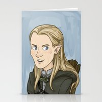 legolas Stationery Cards featuring Legolas by quietsnooze