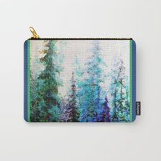 Blue Mountain Landscape Pines In Blue-Greens Carry-All Pouch