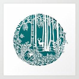 There Wild Woods Grow Art Print