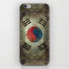 National flag of South Korea, officially the Republic of Korea - Retro style iPhone & iPod Skin