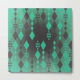 Geometric Clutter Metal Print