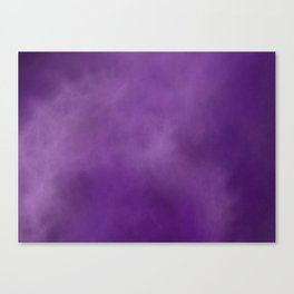 Smokey Watercolor Purple Solid Canvas Print