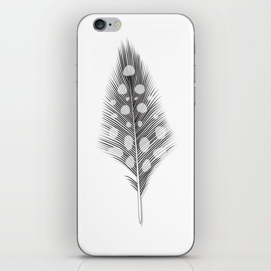 Polka Dotted Feather iPhone & iPod Skin