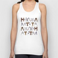 hakuna Tank Tops featuring ANUKAH Atatam (two)  by Vasare Nar