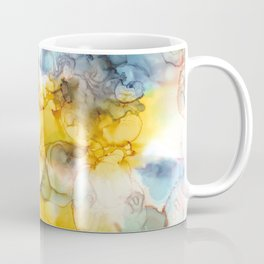 Alcohol Ink 'Fools Gold' Coffee Mug