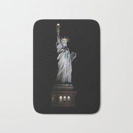 Statue of Liberty at Night Bath Mat