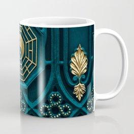 Blue and brown yin yang illustration Coffee Mug