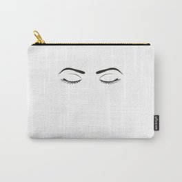 Fashion Wall Art Eyebrows On Fleek Fashion Print Makeup Print Makeup Decor Eye Lashes Girls Room Carry-All Pouch
