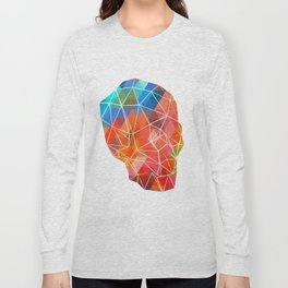 Skull Made of Color Long Sleeve T-shirt