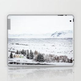 Thingvellir National Park-Coloured Houses Laptop & iPad Skin