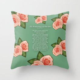 No Waivering of His love By Feon Davis Throw Pillow
