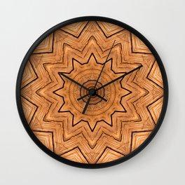 Wood Kaleidoscope c Wall Clock