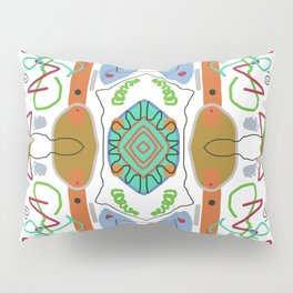 Multi Colored Line And Shape Abstract Pattern Pillow Sham