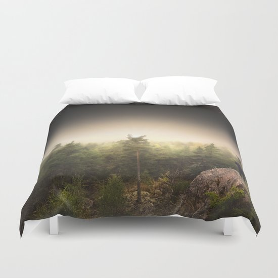 Im happily lost yet again Duvet Cover