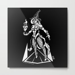 Kinktober 2018 Day 12: Costume witch Metal Print