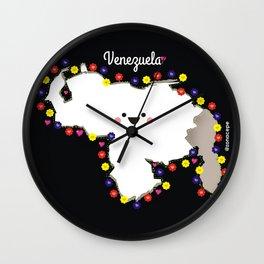 Venezuela en flor Wall Clock