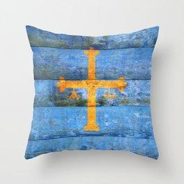Asturias flag Throw Pillow