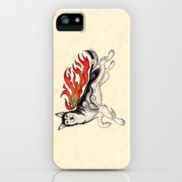 Marukomu Inukami ~ Ōkami inspired husky dog, watercolor & ink, 2015 iPhone Case