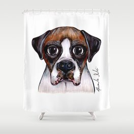 Jake The Boxer Shower Curtain