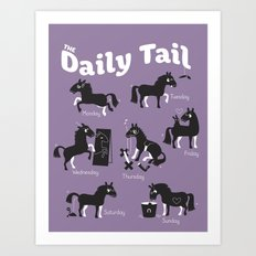 The Daily Tail Horse Art Print