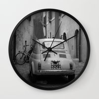 italy Wall Clocks featuring Italy by Angelika Stern