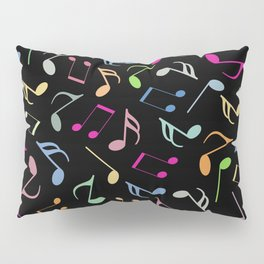 Music Colorful Notes II Pillow Sham
